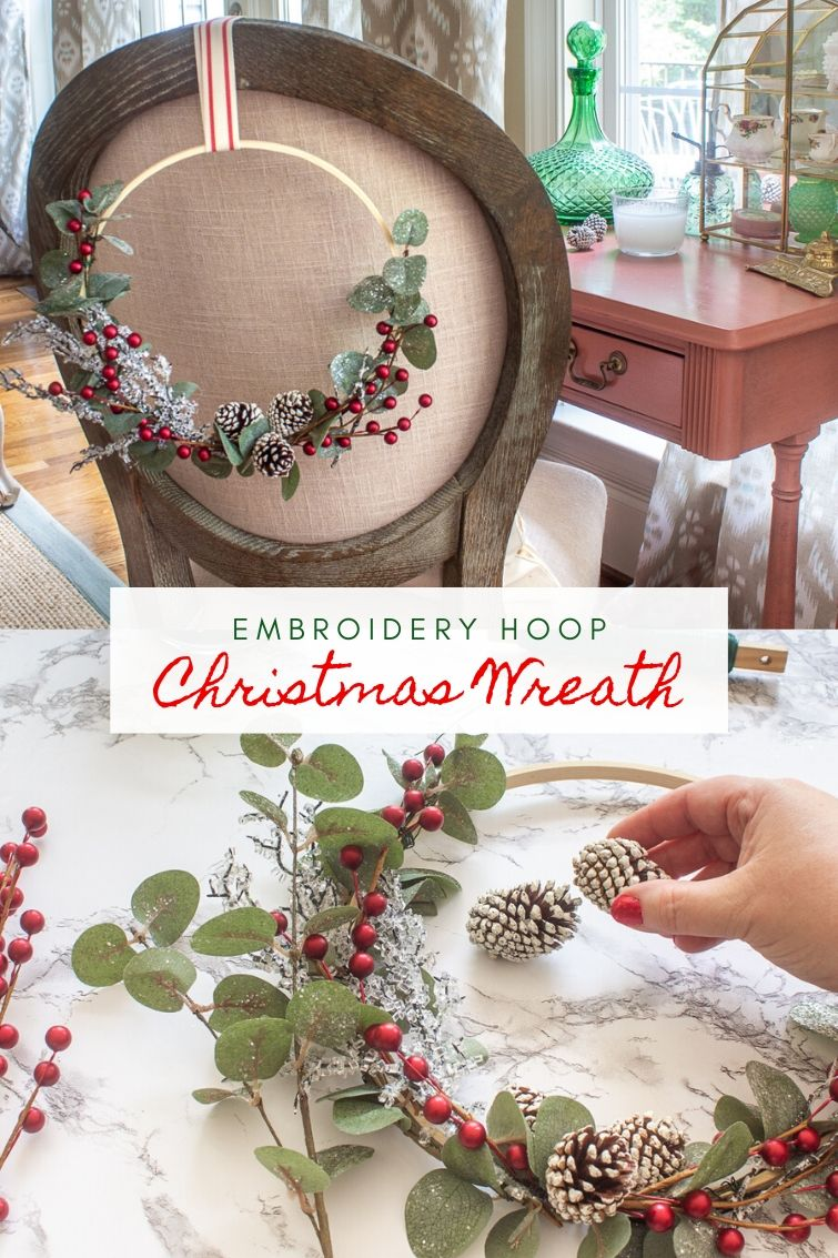 Embroidery Hoop Wreath For Christmas All Winter Long